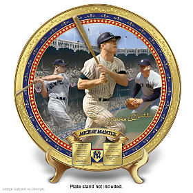 Mickey Mantle Commemorative Collector Plate