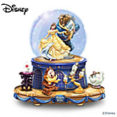 Disney Beauty And The Beast Glitter Globe