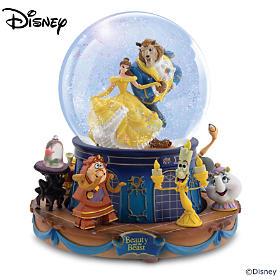 Disney Beauty And The Beast Glitter Globe