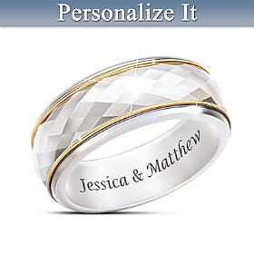 Endless Facets Of Love Personalized Ring