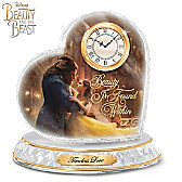 Disney Beauty And The Beast Crystal Heart Clock