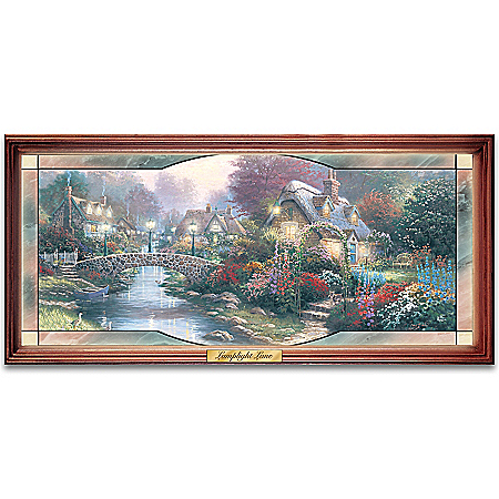 Thomas Kinkade Garden Of Light Collectible Stained Glass Wall Decor