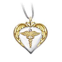 Nurse's Serenity Prayer Diamond Pendant