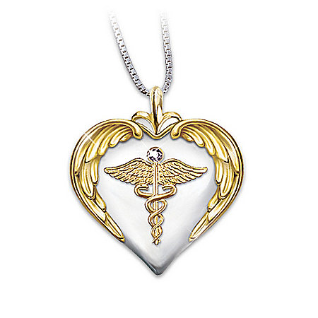 Nurse's Serenity Prayer Diamond Pendant by The Bradford Exchange Online - Lovely Exchange