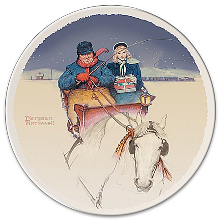 Homecoming Rockwell Christmas Collector Plate