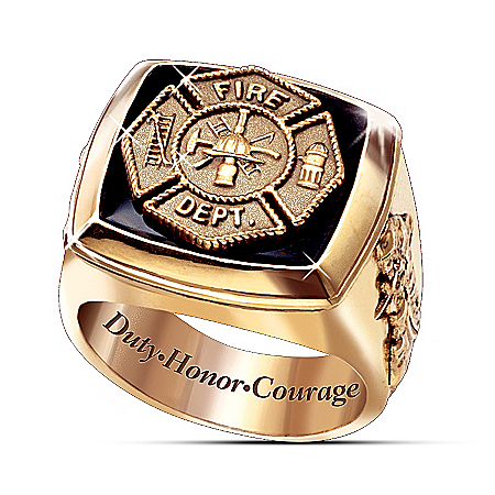 The Firemen Men's 24K Gold-Plated Ring