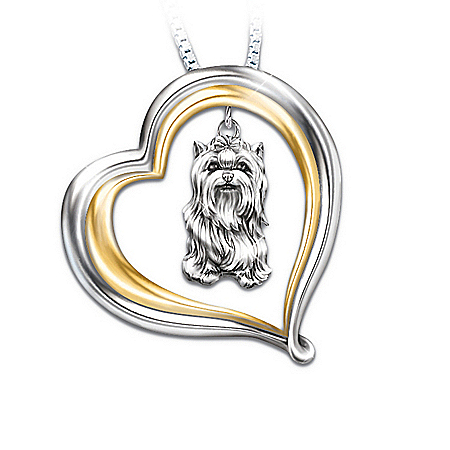 Loyal Companion Dog Lover Yorkie Pendant Necklace Gift Idea
