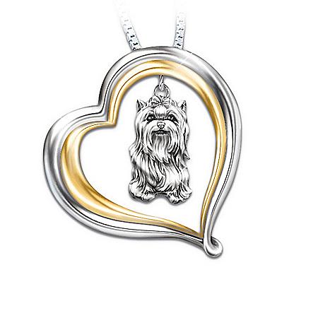 Loyal Companion Dog Lover Yorkie Pendant Necklace Gift Idea