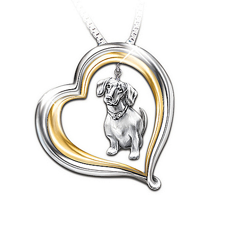 Loyal Companion Dog Lover Dachshund Pendant Necklace Gift Idea