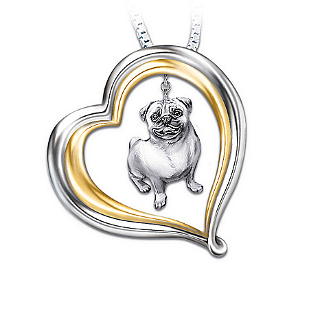 Pug Dog Loyal Companion Pendant Necklace