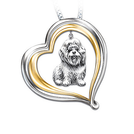 Loyal Companion Dog Lover Shih Tzu Pendant Necklace Gift Idea