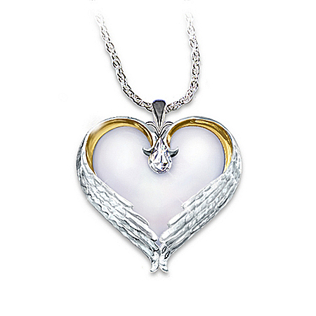 Forever In My Heart Sterling Silver Heart Shaped Pendant Necklace Sympathy Gift