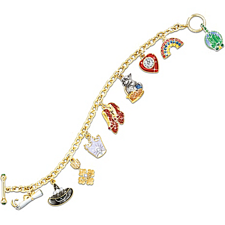 Wizard Of Oz Over The Rainbow Charm Bracelet