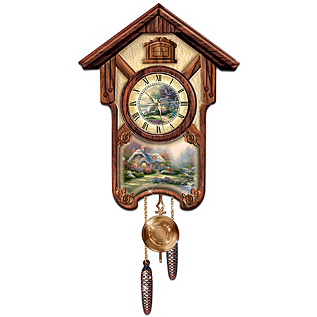 Thomas Kinkade Timeless Memories Wall Cuckoo Clock