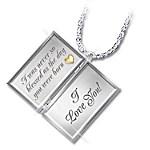 Dear Granddaughter Letter Of Love Sterling Silver Locket Necklace Gift For Granddaughter