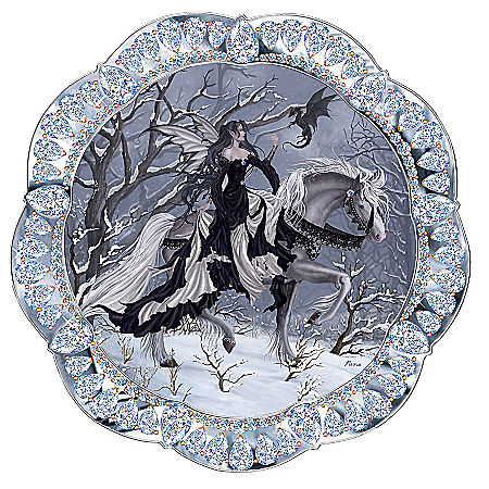 Home Decor Collectibles The Ice Princess Fantasy Art Collector Plate: Unique Home Decor