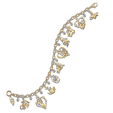 Disney Winnie The Pooh & Friends Charm Bracelet by The Bradford Exchange Online - Lovely Exchange