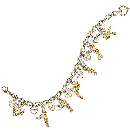 Disney Tinkerbell Disney Tinker Bell Charming Heart Charm Bracelet