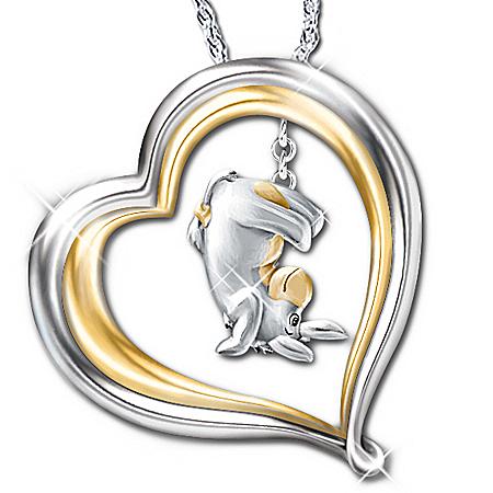 Winnie The Pooh Eeyore Engraved Pendant Necklace