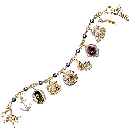 A Pirate's Treasure Charm Bracelet With Cultured Black Pearls: Pirates Of The Caribbean Jewelry