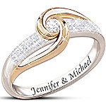 Lover's Knot Personalized Diamond Ring - Romantic Jewellery Gift