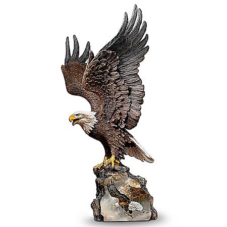 Collectible Eagle Art Sculpture: Canyon Guardian