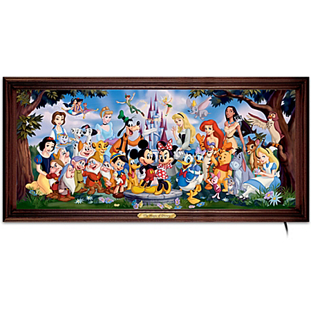 The Magic Of Disney Stained-Glass Panorama: Wall Decor by The Bradford Exchange Online - Lovely Exchange