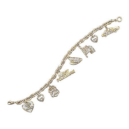 Photo of I Love My Policeman Charm Bracelet: Police Jewelry Gift by The Bradford Exchange Online