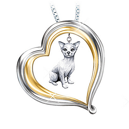 Loyal Companion Dog Lover Chihuahua Pendant Necklace Gift Idea