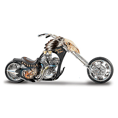Native American Collectibles Spirit Rider Native American Style Collectible Motorcycle Figurine