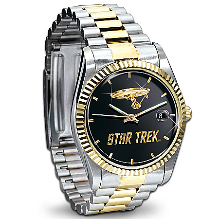 Star Trek U.S.S. Enterprise Stainless Steel Collector's Watch