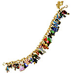 Wizard Of Oz Ultimate Charm Bracelet - Engraved Wizard Of Oz Jewelry Collectible