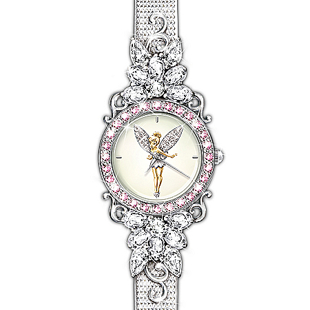Disney Tinkerbell Disney Tinker Bell Reflections Of Time Crystal Watch
