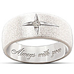 Forever In Faith Sterling Silver And Solitaire Diamond Women's & Men's Cross Ring