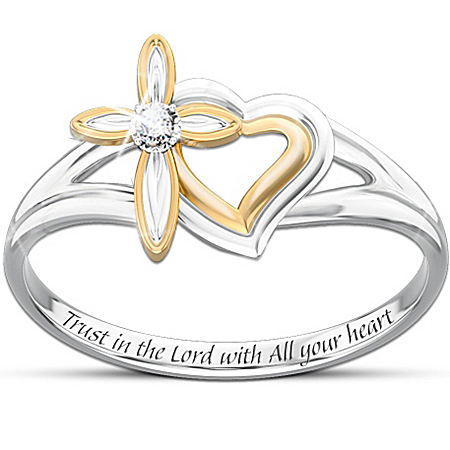 Gifts for Daughters My Daughter's Faith And Love Diamond Ring