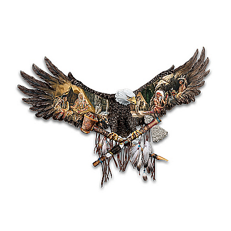 Counsel Of The Spirits Bald Eagle Wall Decor by The Bradford Exchange Online - Lovely Exchange