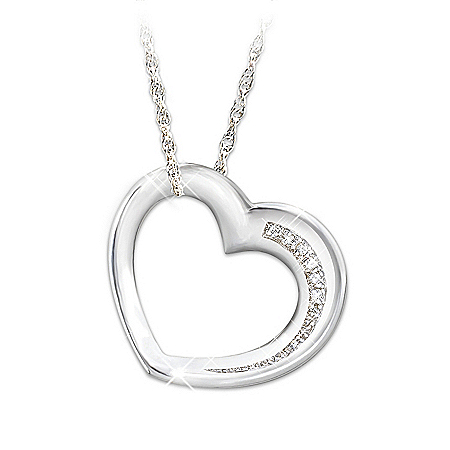 My Daughter Have I Told You Lately Sterling Silver And Diamond Heart-Shaped Pendant Necklace