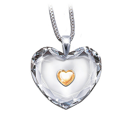 Gifts for Daughters Dear Daughter, Heart Of Gold Pendant Necklace: Daughter Keepsake Jewelry Gift