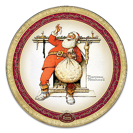 Norman Rockwell Filling The Stocking Collector Plate