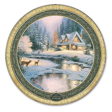 Collector Plate: Thomas Kinkade Deer Creek Collector Plate