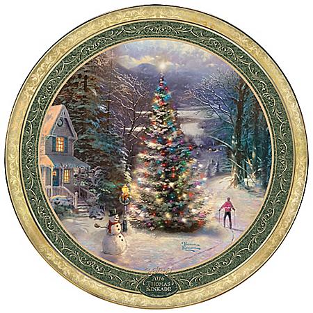 Thomas Kinkade O Christmas Tree Heirloom Porcelain Collector Plate