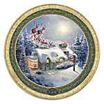 Thomas Kinkade Dash Away All Holiday Heirloom Porcelain Collector Plate With Custom-Crafted Box