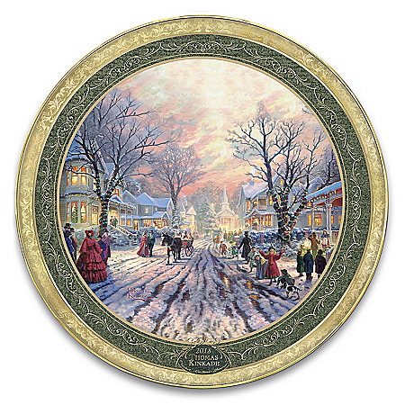 Thomas Kinkade A Victorian Christmas Carol Collector Plate