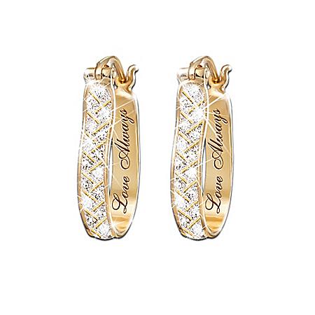 For Love Always Diamond Earrings by The Bradford Exchange Online - Lovely Exchange