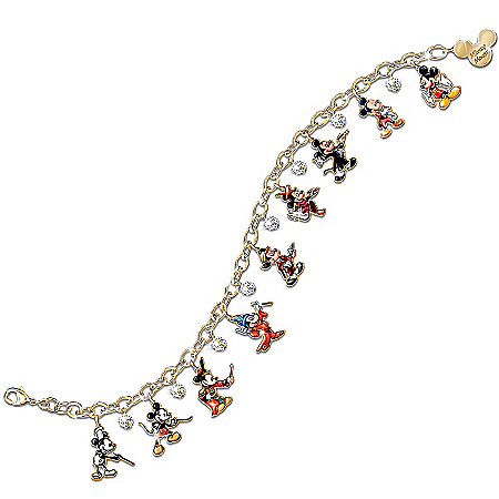 Disney Mickey Mouse Through The Years Charm Bracelet