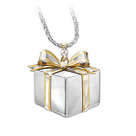 Sister's Gift Of Love Sterling Silver & Diamond Pendant Necklace: Jewelry Gift For Sisters