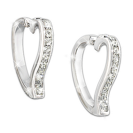 Love In My Heart Diamond Earrings: Romantic Gift For Her