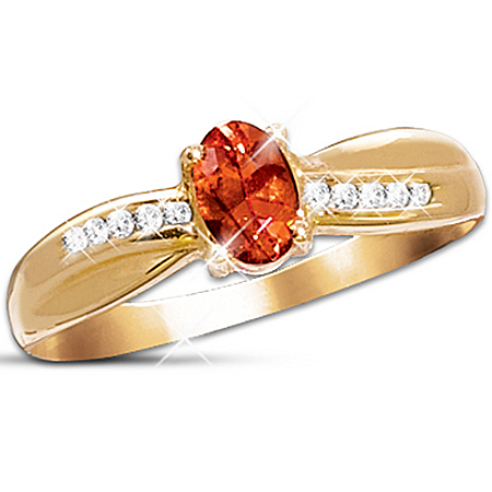 Blazing Brilliance Fire Opal And Diamond Ring