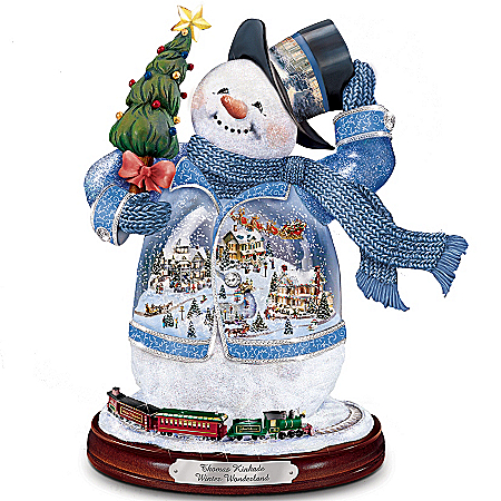 Thomas Kinkade Winter Wonderland Snowman Figurine