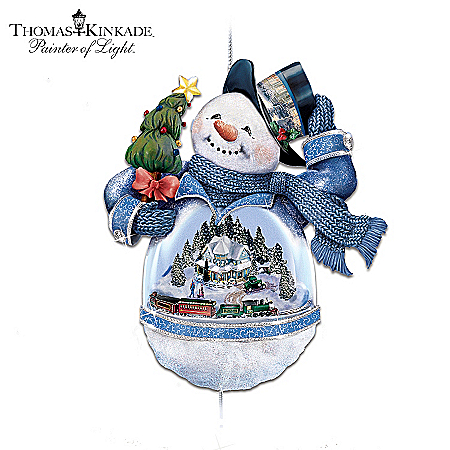 Thomas Kinkade Snowman Victorian Christmas Ornament: Bringing Holiday Cheer